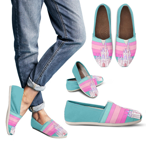 Pink Retro Casual Slip-On
