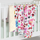 Valentine Cuties Sherpa Fleece Blanket