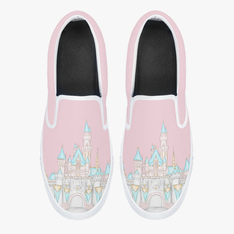 Pink CA Castle Classic Slip-On