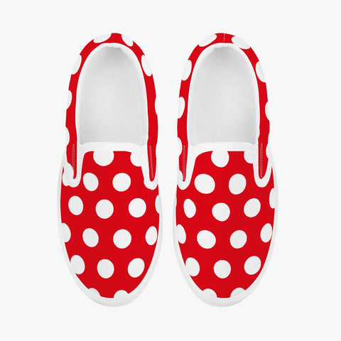Red Polka Dot Kids Slip-On