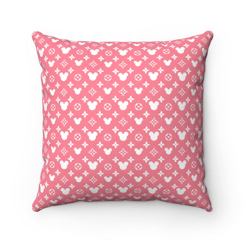 Bright Monogram Mouse Square Pillow Case