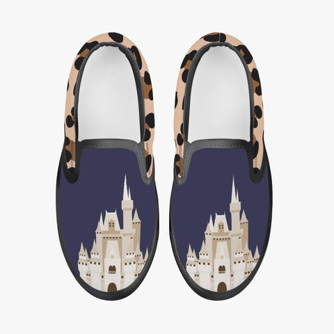 Kids' Blue Leopard Slip-On