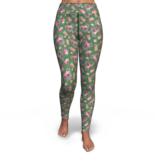 Floral Leopard Yoga Leggings