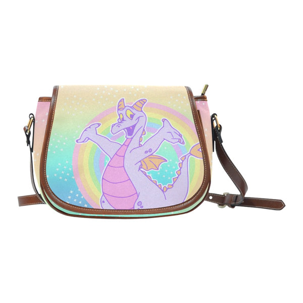 Purple Dragon Crossbody Bag