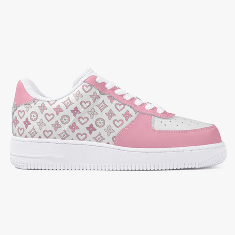 Pink Monogram Leather Low Top