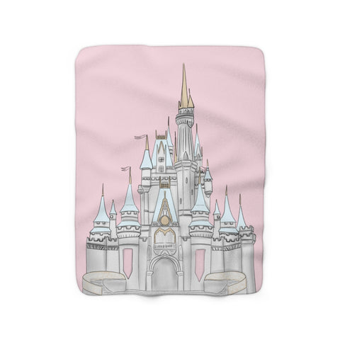 Pink Castle Sherpa Fleece Blanket