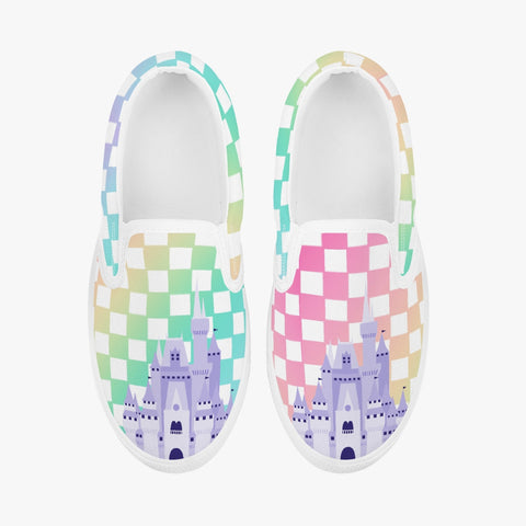 Kids Rainbow Check Slip-On