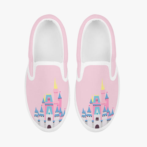 Kids Pink Castle Slip-On