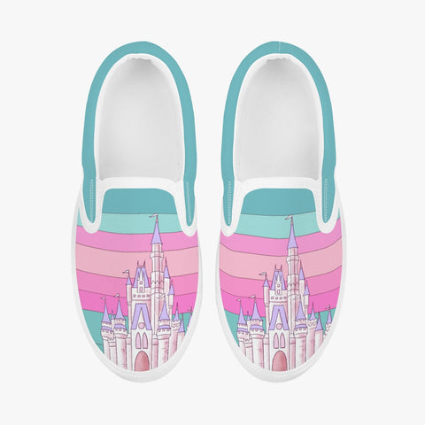 Kids Pink Retro Slip-On