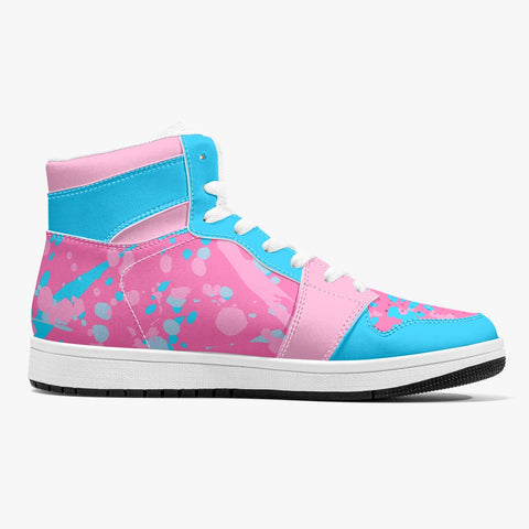 Pink & Blue Leather Hightops