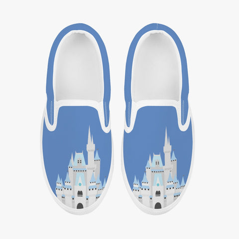 Kids Blue Castle Slip-On