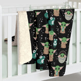 Baby Alien Sherpa Fleece Blanket