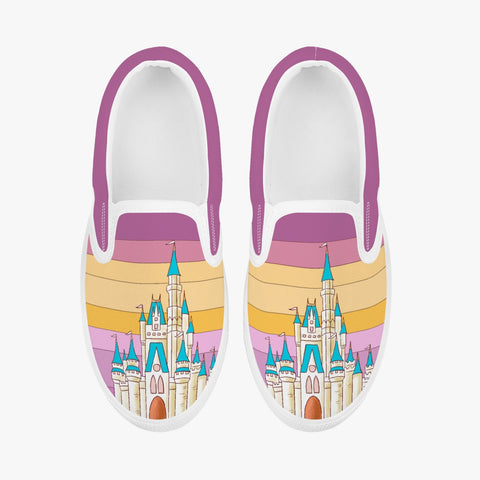 Kids Plum Retro Slip-On