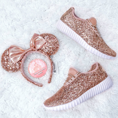 Rose Gold Glitter Athletics