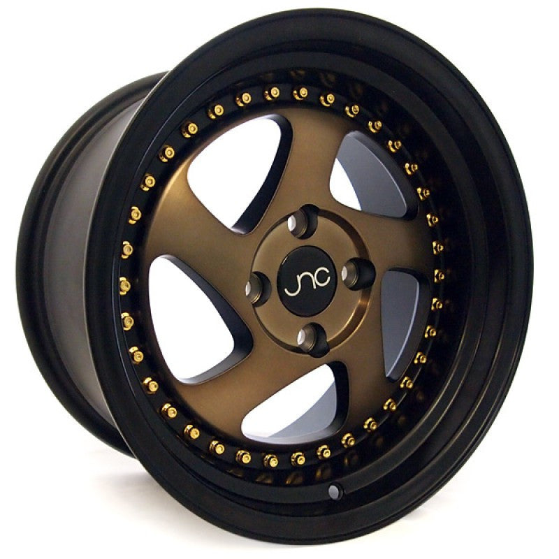 JNC Wheels 034 Matte Bronze Black Lip.
