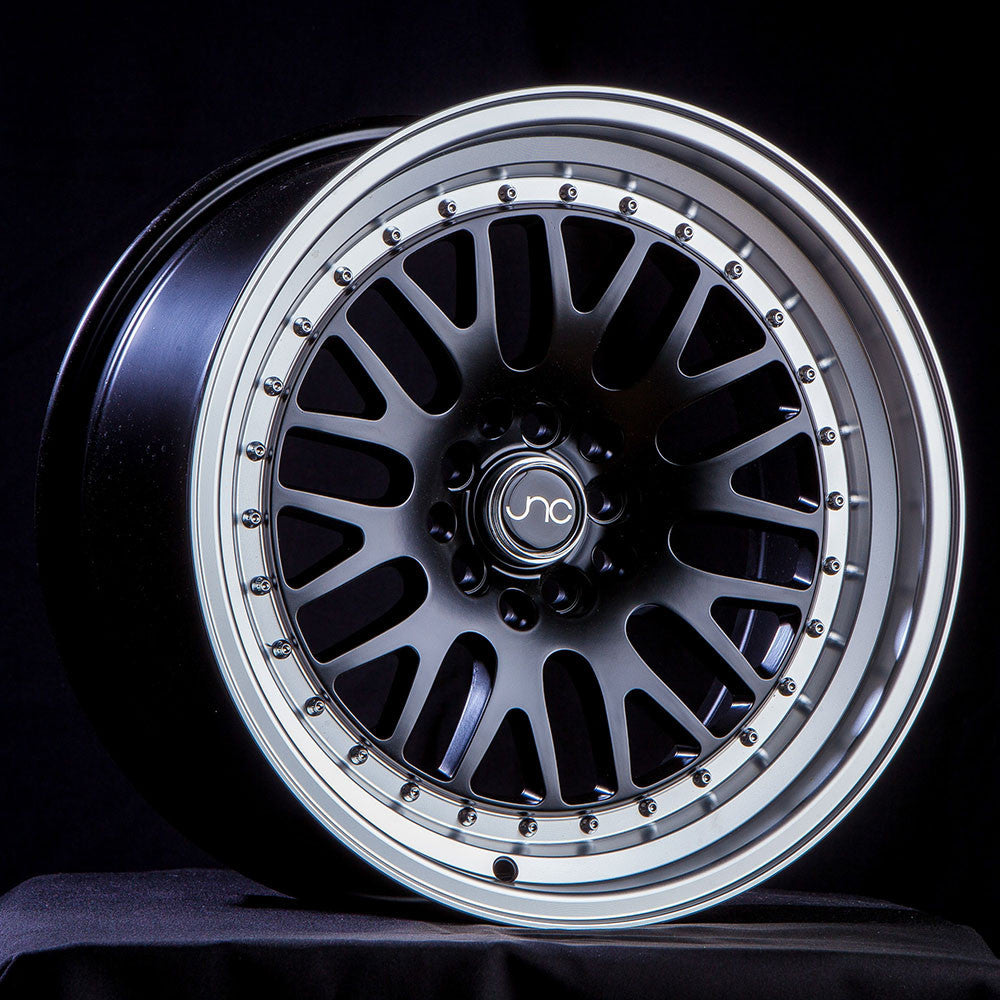 JNC Wheels 001 Matte Black Machine Lip.