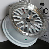 JNC Wheels 001 White Machine Face