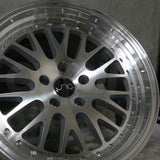 JNC Wheels 001 Silver Machine Face
