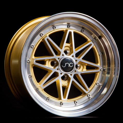 JNC Wheels 002 Gold Machine Face