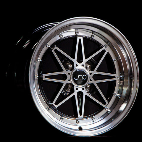 JNC Wheels 002 Black Machine Face