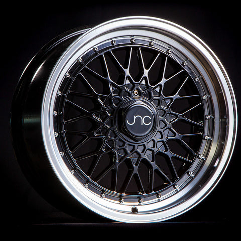 JNC Wheels 004 Matte Black Machine Lip