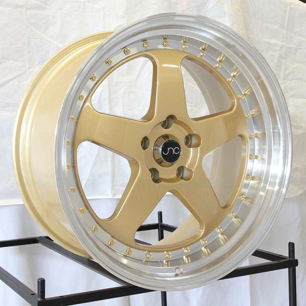JNC Wheels 010 Gold Machine Lip