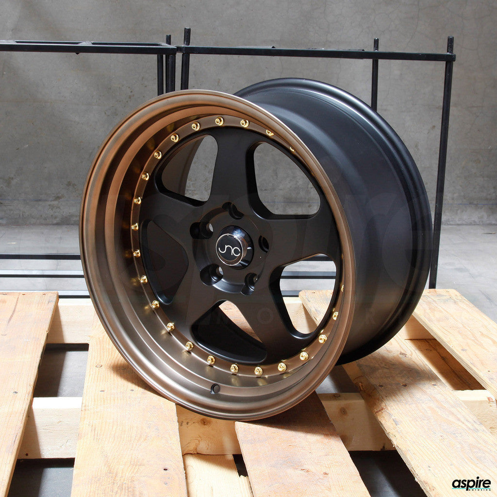 JNC Wheels 010 Matte Black Matte Bronze Lip.