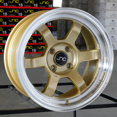 JNC Wheels 013 Gold Machine Lip