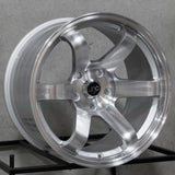 JNC Wheels 014 Silver Machine Face