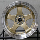 JNC Wheels 017 Gold Machine Lip