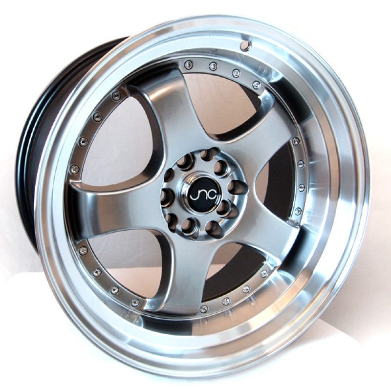 JNC Wheels 017 Hyper Black Machine Lip