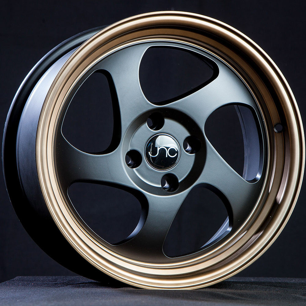 JNC Wheels 034 Matte Black Bronze Lip