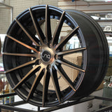 JNC Wheels 042 Matte Black Machine Bronze Face