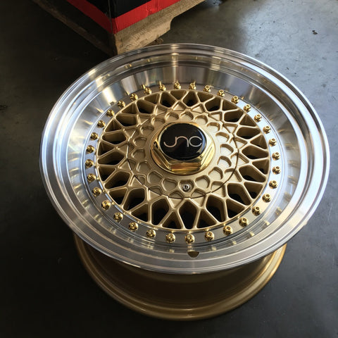 JNC Wheels 004S Gold Machine Lip.
