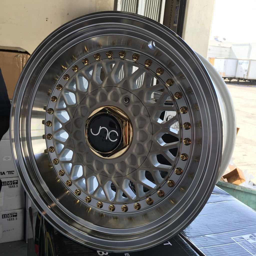 JNC Wheels 004S White Machine Lip.