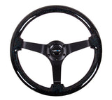 NRG Innovations Deep Dish Wood Steering Wheel 350MM (Solid Spoke)