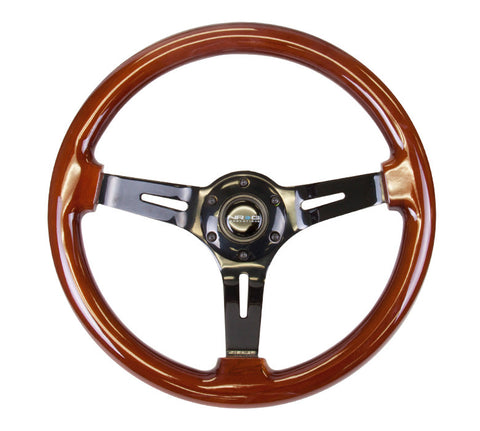 NRG Innovations Deep Dish Wood Steering Wheel 350mm