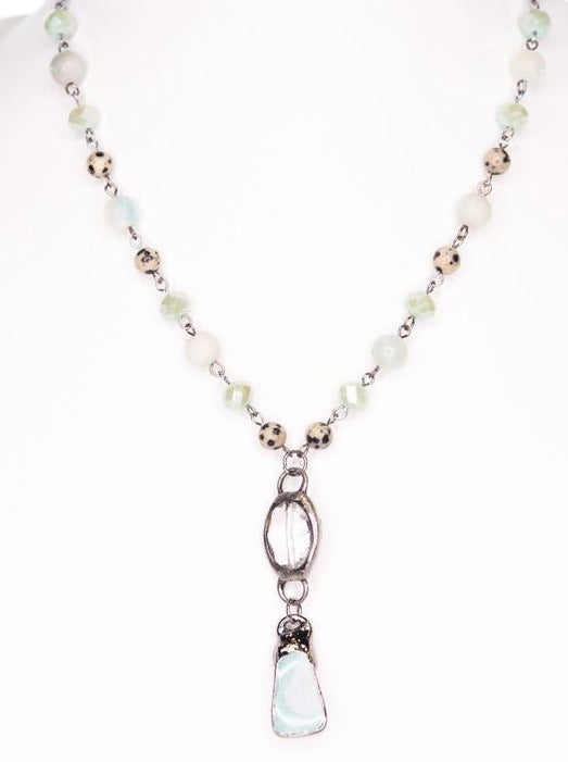 Natural Stone Beaded Necklace - Cinderella Ranch Boutique