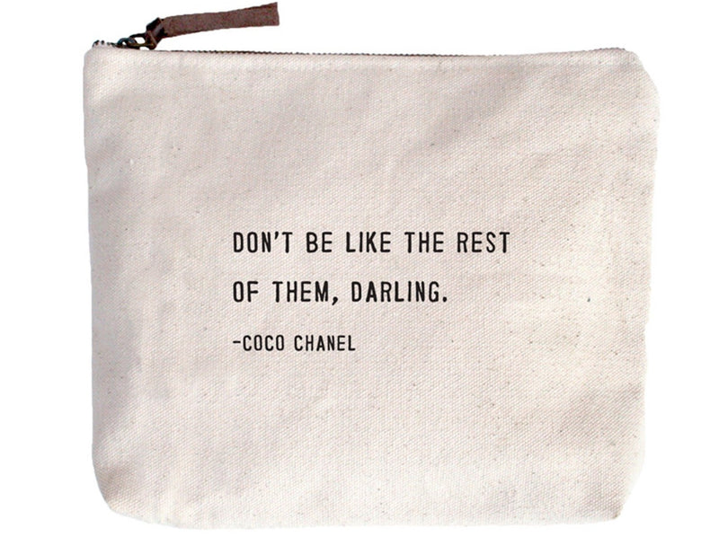 Canvas Zip Bag | Don't Be Like The Rest - Cinderella Ranch Boutique