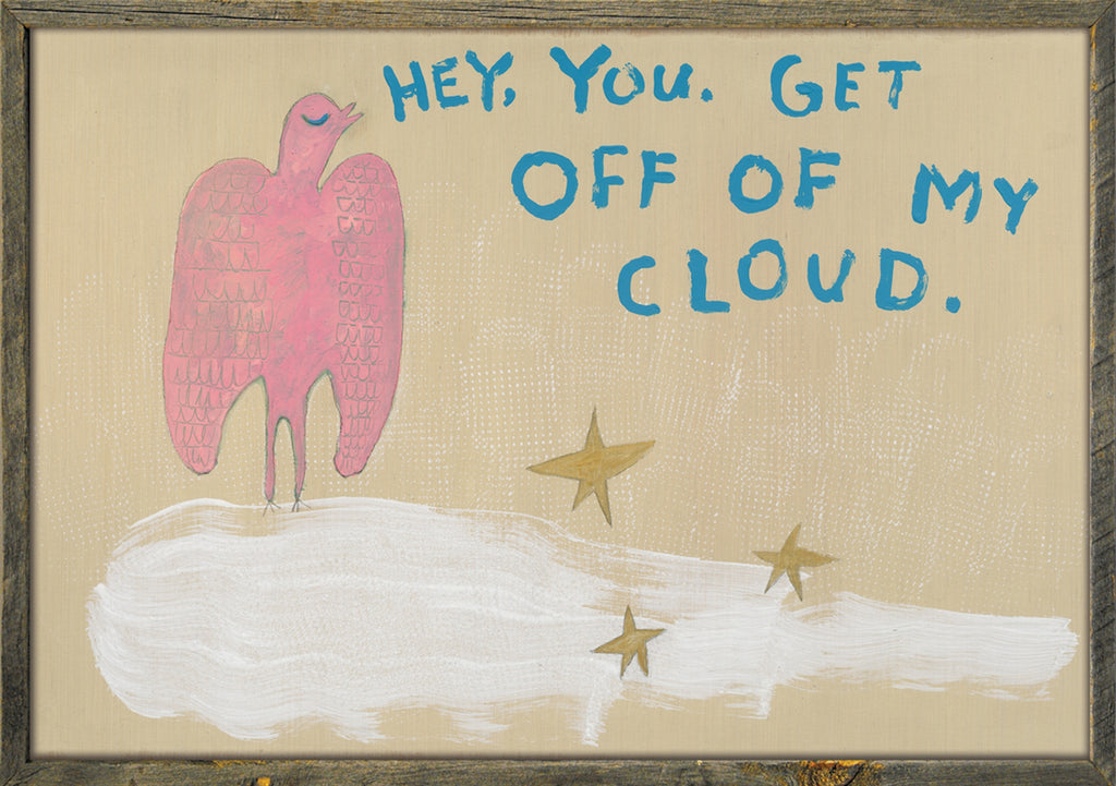 Sugarboo Gallery Wrapped Art Print | Get Off My Cloud - Cinderella Ranch Boutique