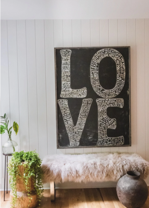 Sugarboo Gallery Wrapped Art Print | LOVE - Cinderella Ranch Boutique