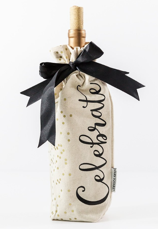 Celebrate Canvas Wine Bag