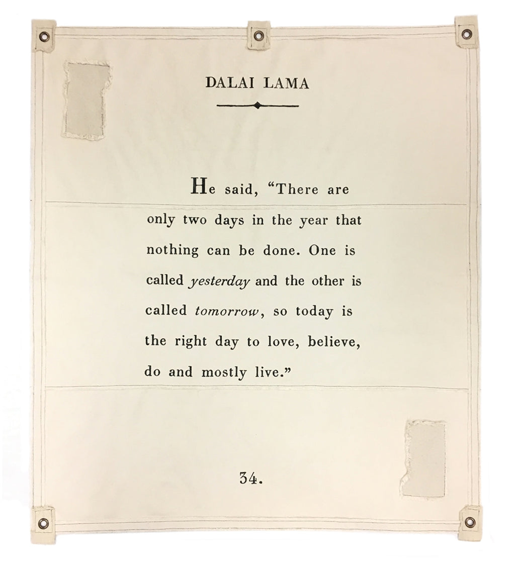 Sugarboo Wall Tarp | Dalai Lama - Cinderella Ranch Boutique