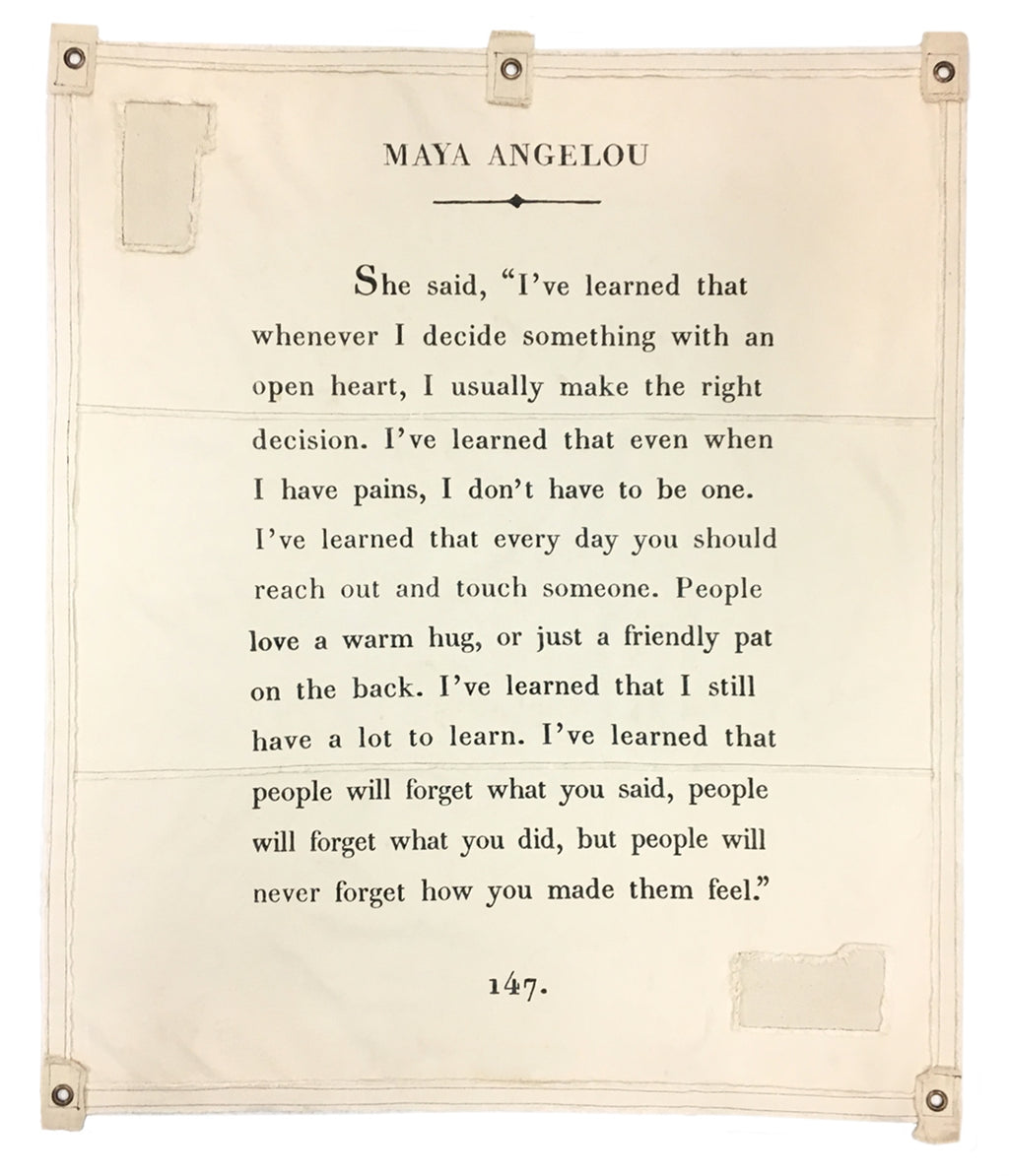 Sugarboo Wall Tarp | Maya Angelou - Cinderella Ranch Boutique