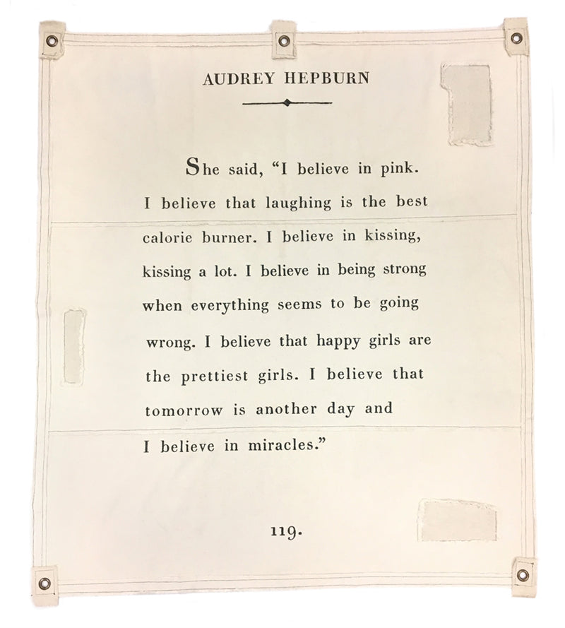 She Said (Audrey Hepburn) Tarp - Cinderella Ranch Boutique