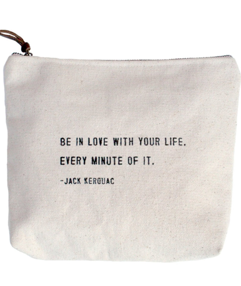 Canvas Zip Bag | Be In Love - Cinderella Ranch Boutique