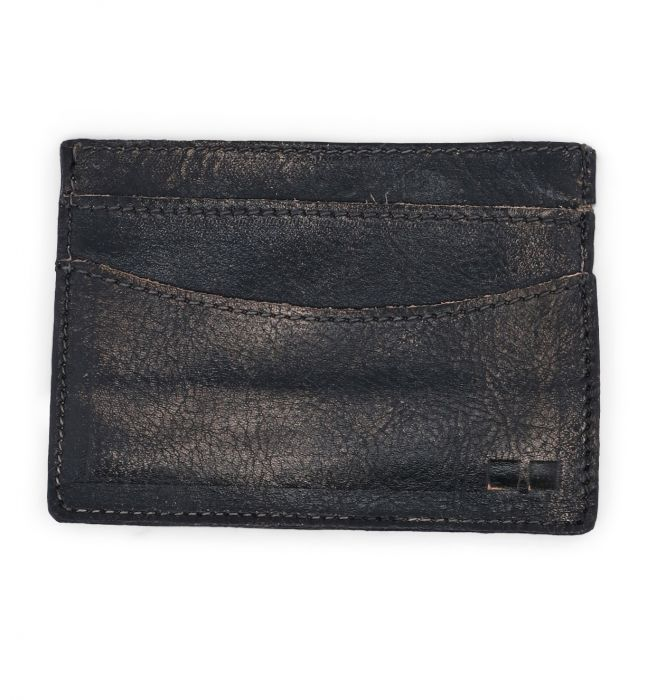 BED|STU CHUCK CARD WALLET - BLACK HANDWASH - Cinderella Ranch Boutique