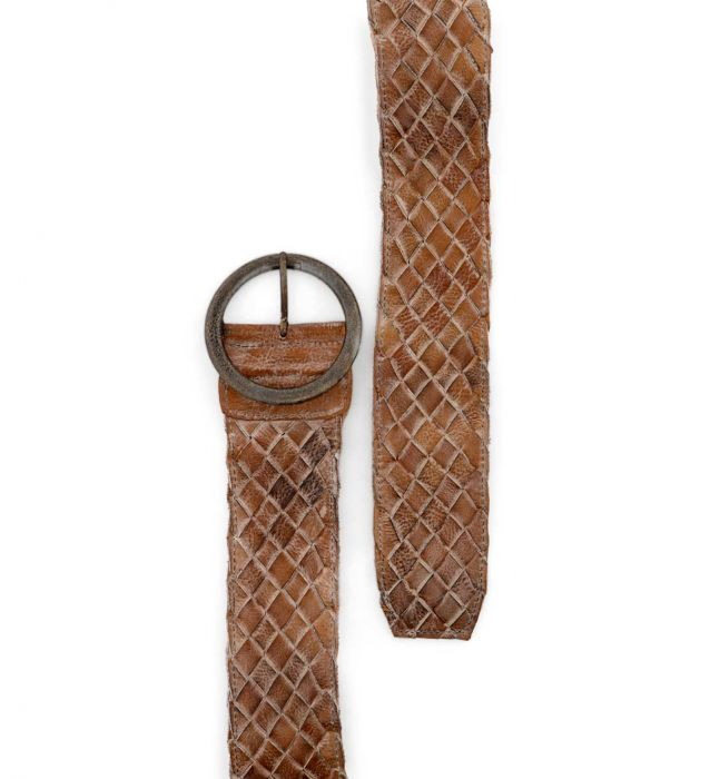 BED|STU Woven Leather Belt - Cinderella Ranch Boutique