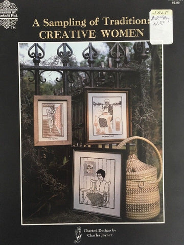 A Sample of Traditions Creative Women Cross Stitch Pattern Gloria Pat Leaflet