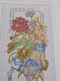 For the Love of Cross Stitch magazine Leisure Arts May 1996 Garden Angel Flower